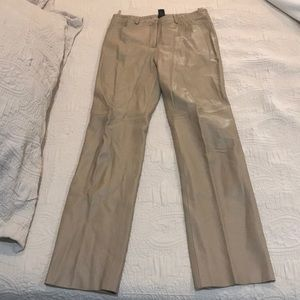 Tan leather jeans